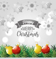 merry christmas holiday poster decoration vector image