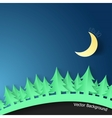 Modern Background With Spruce And Moon vector image vector image