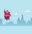 overweight superheroine flying vector image vector image