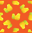 pear seamless pattern vector image vector image