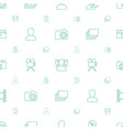 picture icons pattern seamless white background vector image vector image