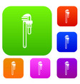 pipe or monkey wrench set collection vector image
