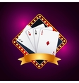 poker cards game casino vector image vector image