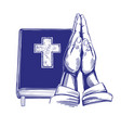 praying hands bible gospel the doctrine of vector image