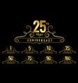 premium anniversary logotype emblem set vector image vector image