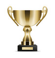 realistic golden trophy cup isolated vector image vector image