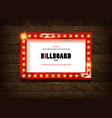 retro cinema bulb sign shape vector image