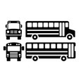 school bus icons vector image