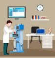 scientists people in cabinet composition vector image vector image