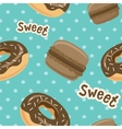 Seamless pattern with macaroon cookies and donuts vector image vector image