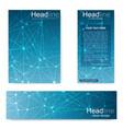 set flyer brochure size a4 templatebanner vector image vector image