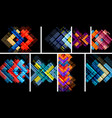 set of abstract geometric backgrounds vector image