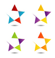 Set of colorful star logos vector image vector image