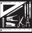 set of white school and office supplies vector image vector image