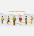 social distancing concept people practice vector image vector image