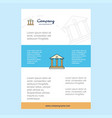 template layout for villa comany profile annual vector image