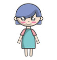 tender girl child with pijama and hairstyle vector image vector image