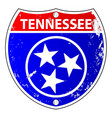 tennessee flag icons as interstate sign vector image vector image