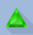 triangular emerald icon flat style vector image vector image