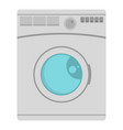 washing machine icon flat style vector image vector image