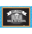 Welcome back to school design vector image vector image
