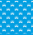 winter hat pattern seamless blue vector image vector image