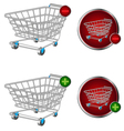 basket button vector image