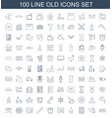 100 old icons vector image vector image