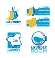 24h laundry room service isolated promotional vector image vector image