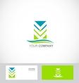 Abstract arrow logo green blue icon vector image vector image