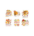 africa logo and label original design set vector image vector image