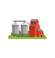 agricultural silo towers and farm buildings vector image vector image