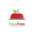 apple food logo vector image