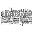 asset and your business text word cloud concept vector image vector image