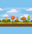 autumn landscape trees and fall leaves similar vector image vector image