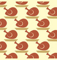 autumnal seamless pattern with turkeys vector image vector image