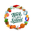 back to school lettering education study supplies vector image vector image