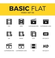 basic set video icons vector image vector image