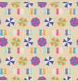 beach umbrellas top view seamless pattern vector image vector image