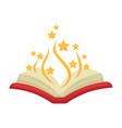 bewitched open colorful magic book isolated on vector image vector image