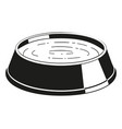 black and white pet water bowl silhouette vector image vector image