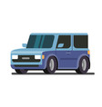 blue car on white background vector image vector image