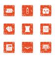 bug fixes icons set grunge style vector image