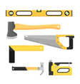 building tools isolated on white background vector image vector image