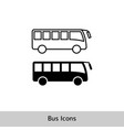 bus icon simple silhouette and outline vector image vector image