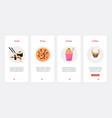 cafe takeaway fast food snack menu ux ui vector image vector image