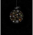 Christmas decoration with bauble vector image