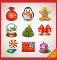 Christmas icon set-2 vector image vector image
