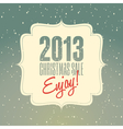 christmas sale 2013 retro poster design vector image vector image