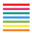 colored striped lines for web vector image vector image